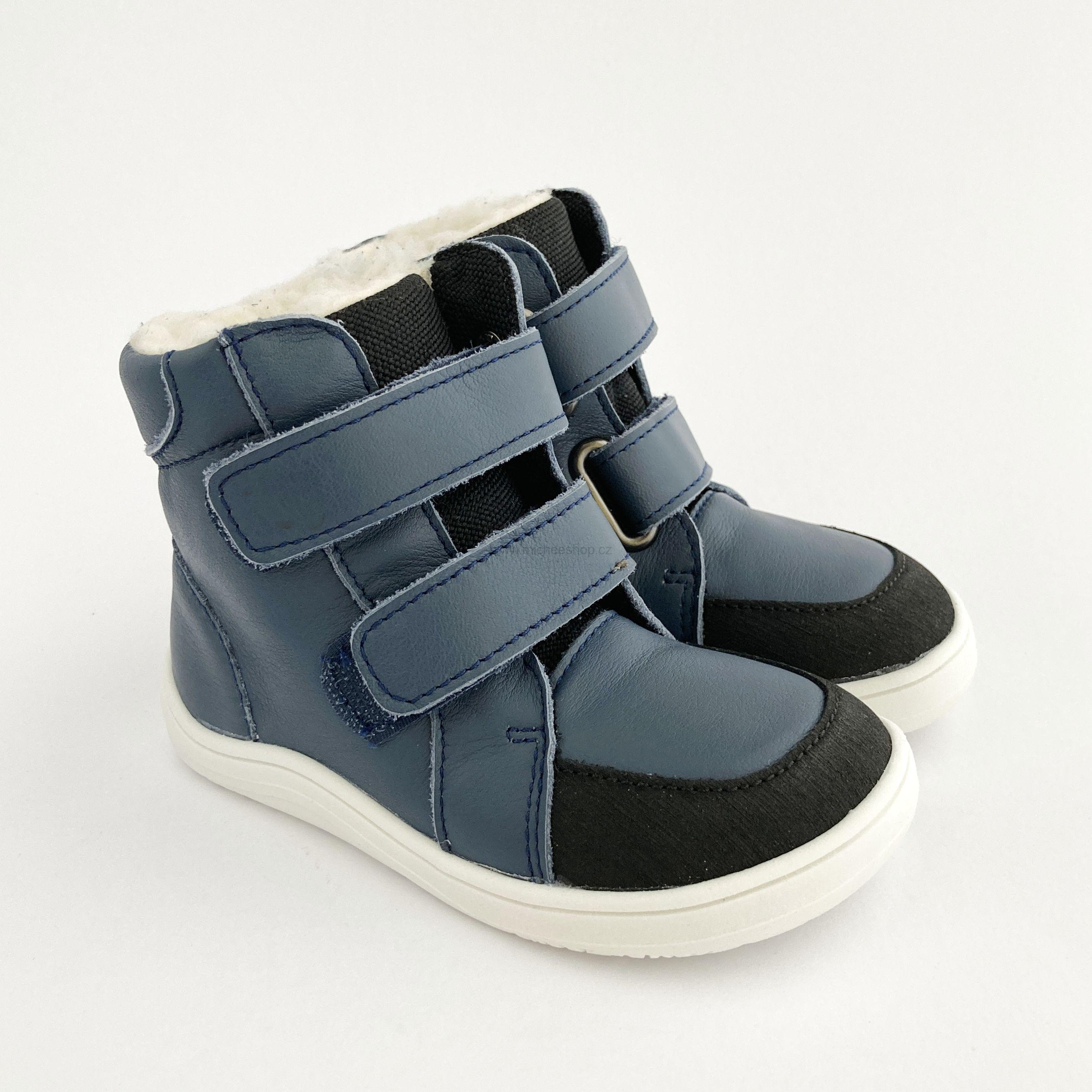 Baby Bare Shoes - Febo Winter Asfaltico - Navy