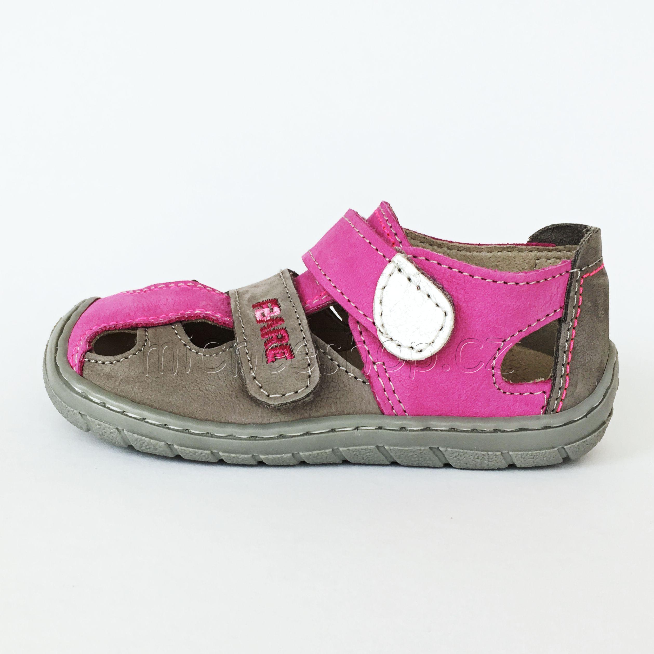 86ca4f322f Fare Bare dětské sandály růžová šedá 26