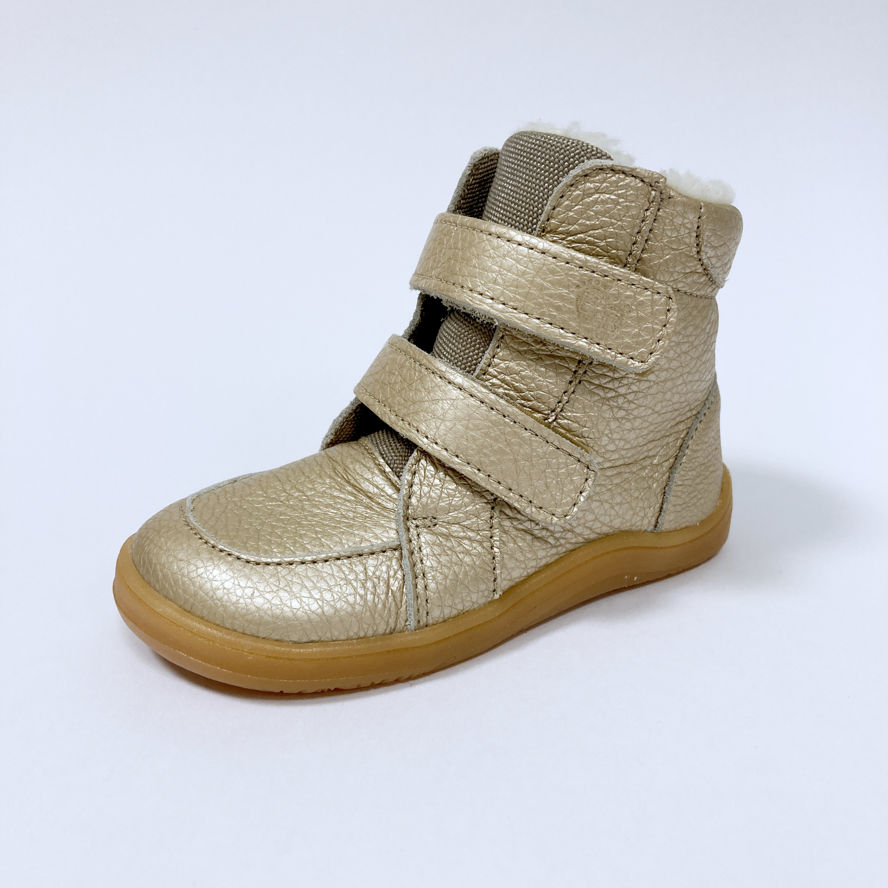 Baby Bare Shoes - Febo Winter - Gold