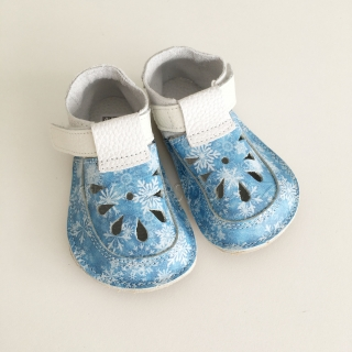 Baby Bare Shoes IO Snowflakes - TOP STITCH Sandals