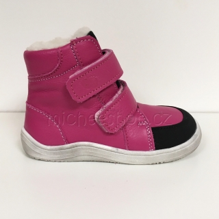 Baby Bare Shoes - Febo Winter Asfaltico - Fuchsia